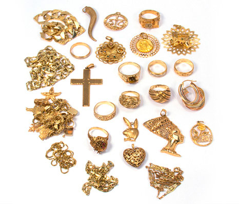 Acheteur d'or, Bijoux LK - Lot de bijoux