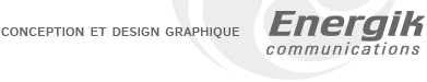 conception et design graphique Energik Communications